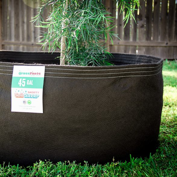 45 gallon fabric pot only 14 inches high