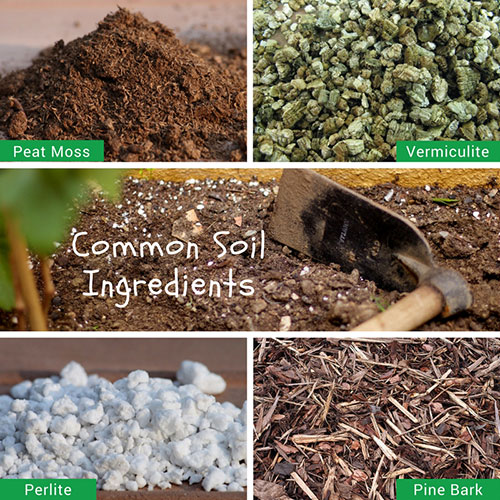 Common soil ingredients.