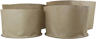 Fabric pots.