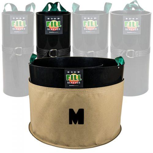 grassroots fabric pots medium fill sleeve