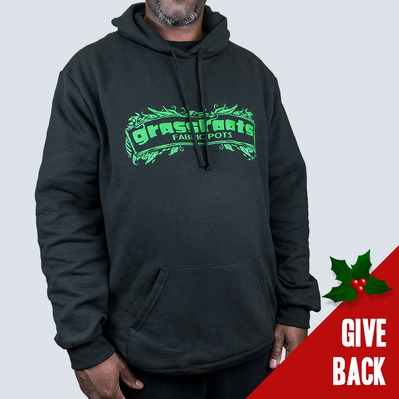 Leafy Grassroots Fabric Pots Hoodie
