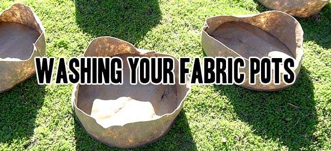 how to wash a grassroots fabric pot