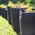 small flowers grassroots fabric pots